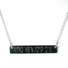 Cape Cod Double Sided Coordinate Necklace