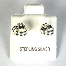 Sterling Silver Smooth Love Knot Earrings