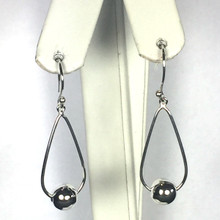 Sterling Silver Drop Ball Earrings