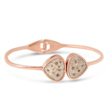 Rose Gold Teardrop Bangle (Beaches of Cape Cod Sand)