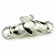 Convertible Sterling Silver Claddagh Clasp