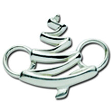 Convertible Sterling Silver Swirl Tree Clasp