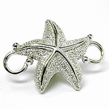 Convertible Sterling Silver Starfish Clasp