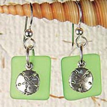 Sandollar Seaglass Earrings