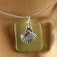 Scallop Seaglass Necklace