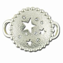 Convertible Sterling Silver and CZ's Circle with Stars