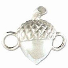 Sterling Silver Acorn Clasp