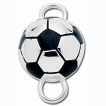 Sterling Silver Soccer Ball Clasp