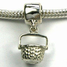 Sterling Silver Nantucket Basket Dangle Charm JSBD181 $34.00