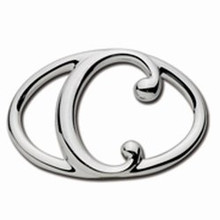 Convertible Sterling Silver C Initial Clasp
