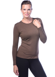 Java Crew Neck Long Sleeve Top