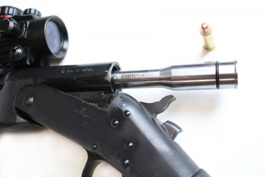 X Caliber is the most versatile  Gauge Adapter system in the world. It allows you to shoot 11 different caliber rounds from one shooting platform: a single-shot 12 gauge shotgun. Each X Caliber adapter is made from 7 inches of 4140 chromoly steel. Each adapter is also rifled to increase accuracy. (***SHOTGUN NOT INCLUDED***)