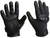 CUT RESISTANT HARD KNUCKLE TACTICAL GLOVES - BLACK