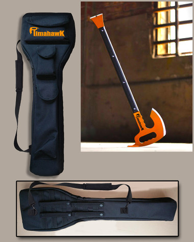 Timahawk multi-tool with carrying bag to protect Timahawk.