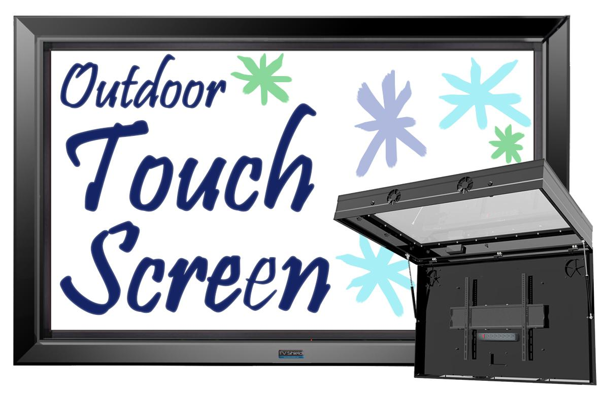outdoor interactive tv screen the tv shield pro touch