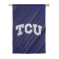 """TCU Horned Fromgs 29"""" x 43"""" Two Sided Suede Flag"""