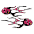 Arizona Cardinals NFL Flame Graphic Decals (2)