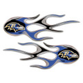 Baltimore Ravens NFL Flame Graphic Decals (2)
