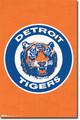 Detroit TIgers MLB Baseball Throwback Logo Wall Poster