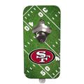 San Francisco 49ers NFL Mountable Magnetic Bottle Opener - Field Design