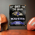 Baltimore Ravens NFL Vintage Metal Sign