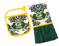 Green Bay Packers NFL Pot Holder and Kitchen Towel Set