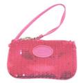 Pink Sequin Wristlet Clutch Wallet