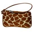 Giraffe Animal Print Wristlet Clutch Wallet