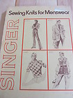 Singer Sewing Knits for Menswear (Soft Book)