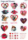 Brother Embroidery Card Hugs & Kisses SA-312D