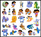 Brother Dora the Explorer Embroidery Card SA-N2