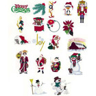 Singer Embroidery Card Christmas Design #5002