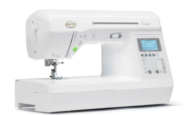 Quick paced for speedy sewing, the new Baby Lock Presto quilting and sewing machine offers 100 built-in stitches and a bright LCD screen; allowing you to select and adjust stitches in a snap. With a zippy 850 stitch-per-minute pace, the Presto makes whipping up a quilt or other sewing project quick and fun!