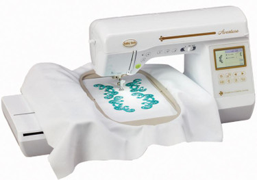 The Baby Lock Aventura sewing and embroidery machine will guide you on your next creative journey. Advanced features and Baby Lock IQ Technology make every step easier. Use the two-way USB connectivity to load your favorite designs to the machine or choose from 141 built-in designs. Then make every project unique with a variety of built-in editing features.