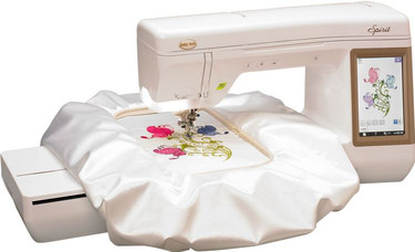 Capture the essence of your inspiration with the Baby Lock Spirit. This modern, embroidery focused machine has numerous features powered by Baby Lock IQ Technology™. The IQ powered Needle Beam for instance, highlights the exact needle position on the fabric to ensure perfect embroidery design placement.