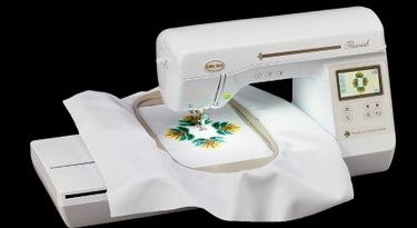 Expand your imagination and let your creativity blossom with the Baby Lock Flourish. This embroidery machine includes many user-friendly features so you can get started right away. The Flourish even makes it easy to customize every project. Thanks to Baby Lock IQ Technology, you do all your editing on the LCD Touch Screen.