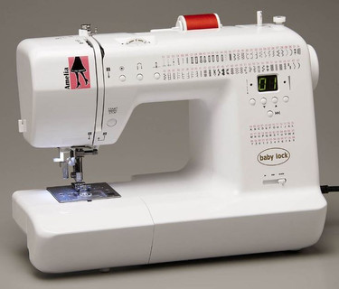 If you're on the go as much as you sew, then Amelia is the perfect sewing machine for you. At just 11.2 pounds, this lightweight sewing machine is easy to carry. Bring Amelia to classes, on road trips or to friends' houses.