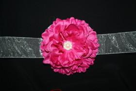 Fuchsia Floral Sash