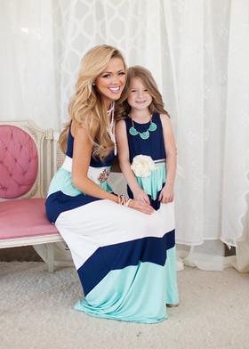 Mommy Pretty Girl Maxi Blue