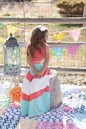 Girls Pretty Girl Maxi Coral