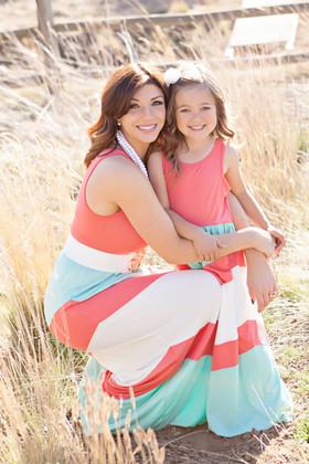 Mommy Pretty Girl Maxi Coral