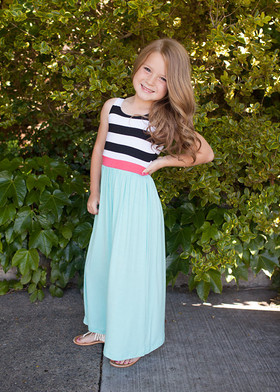 Girls Mint Double the Fun Tank Maxi