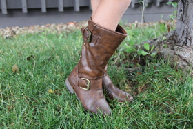 Girl's Outlaw Boots With Red Zipper CLEARANCE