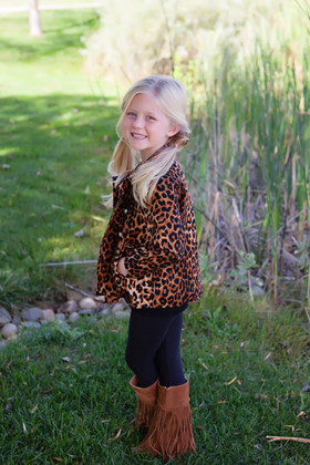Girls Cheetah Trench Coat CLEARANCE