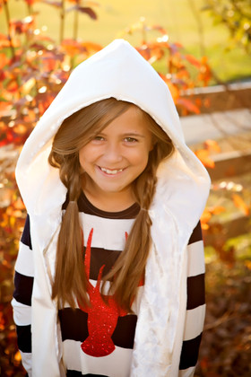 Girls Velvet Fleece Vest Ivory