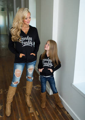 Mommy Sunday Funday Hoodie Black