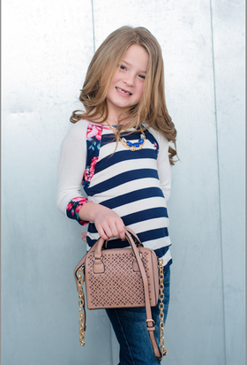 Girls Mini Satchel- Taupe