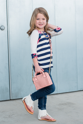 Girls Mini Satchel- Blush