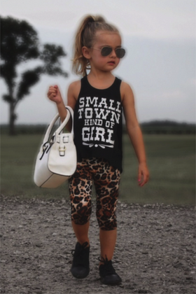 Girls Small Town Kind Of Girl Tank Black