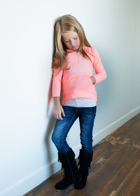 Girls Sunday Funday Hoodie- Flamingo CLEARANCE